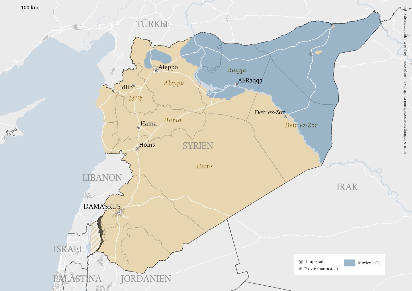 Syrien Karte Mit Städten.Das Ende Des Is Swp