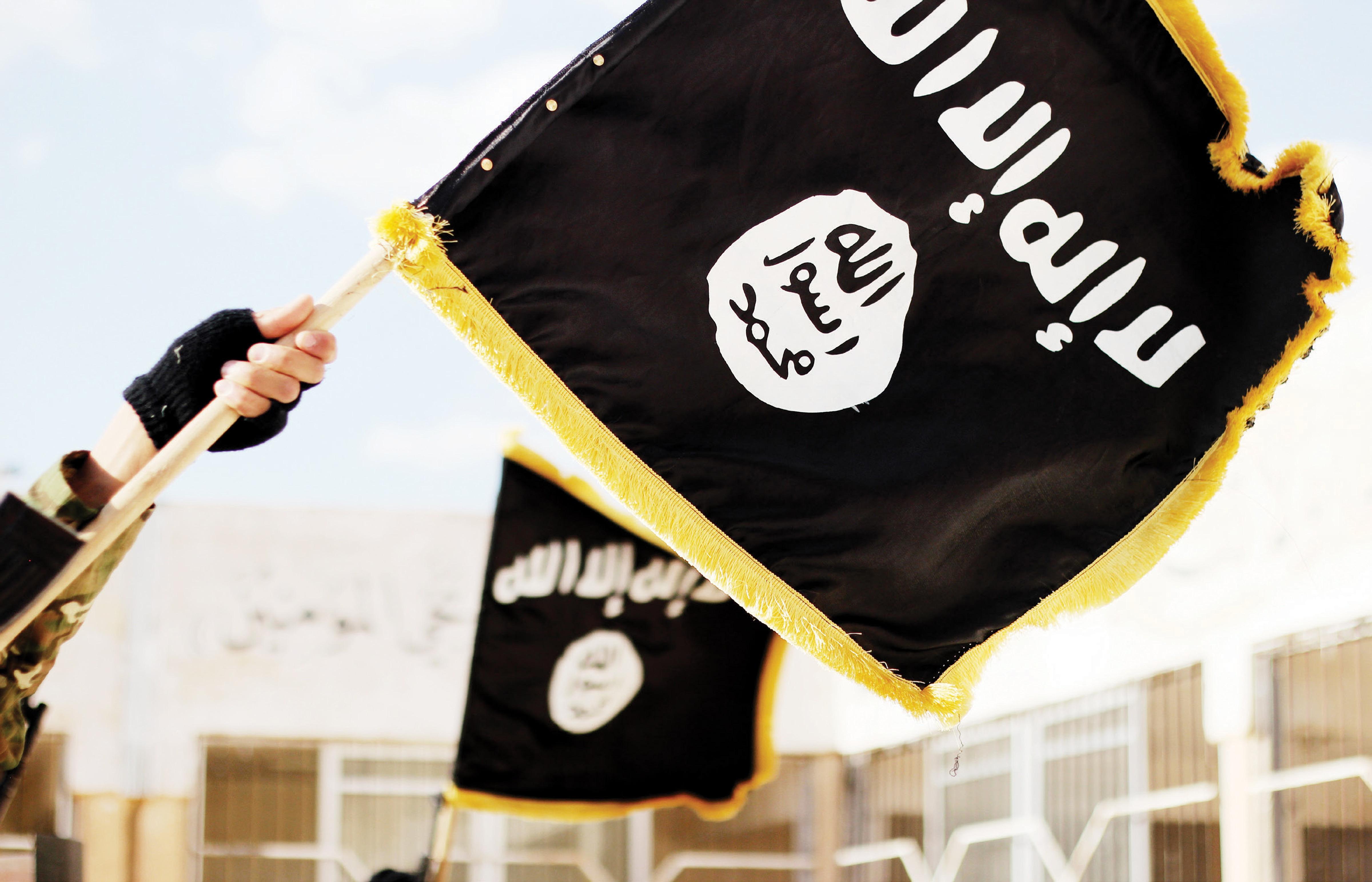 Flagge der Terrororganisation »Islamischer Staat« (IS), IS-Propagandafoto, © picture alliance / ZUMA Press