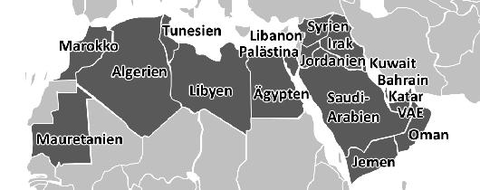 Anklickbare Landkarte der arabischen Welt (Maghreb)
